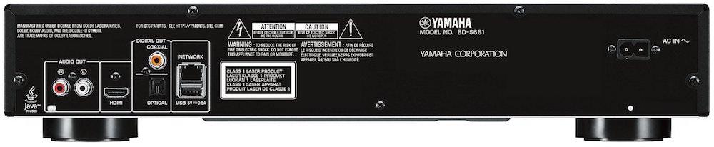 Yamaha BD-S681 Blu-ray Player Back