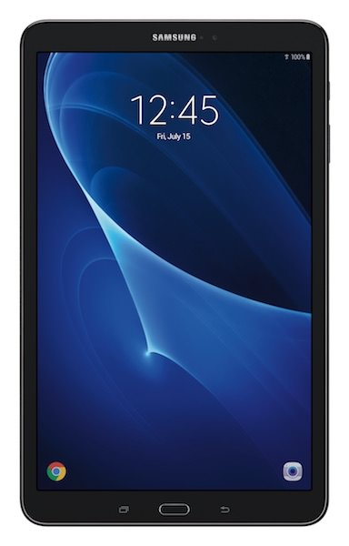 "Samsung Galaxy Tab A 10.1"" Tablet Black Front"