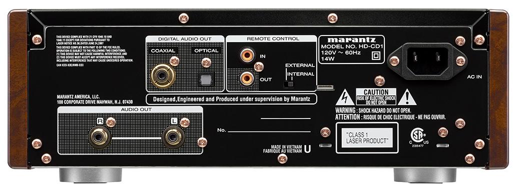 Marantz HD-CD1 CD Player Back