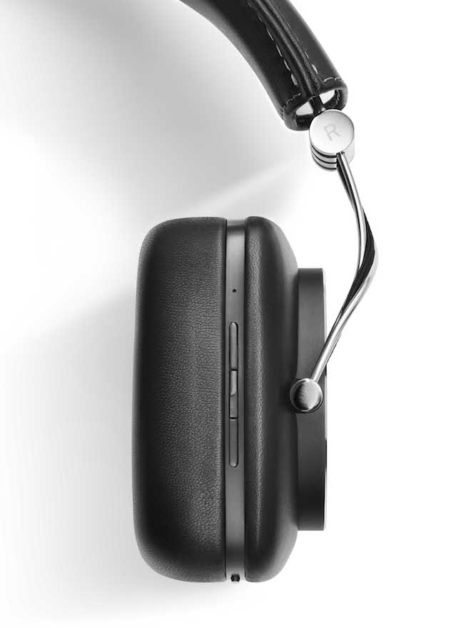 Bowers & Wilkins P7 Wireless Headphones Side View on Controls
