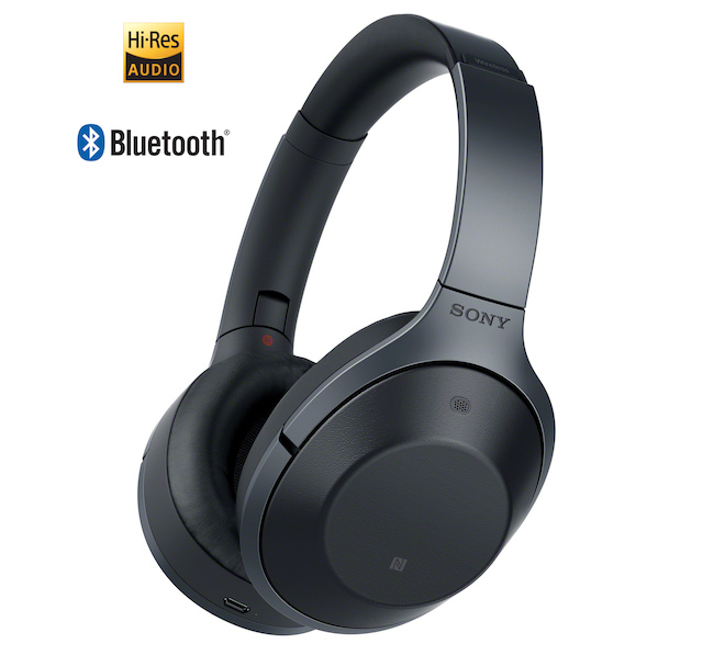 Sony MDR-1000X Wireless Headphones in black
