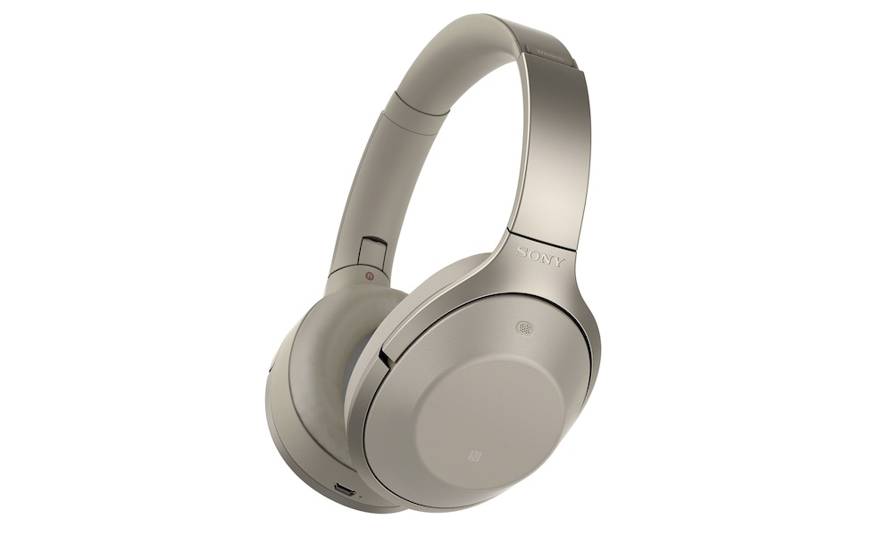 Sony MDR-1000X Wireless Headphones in gray-beige