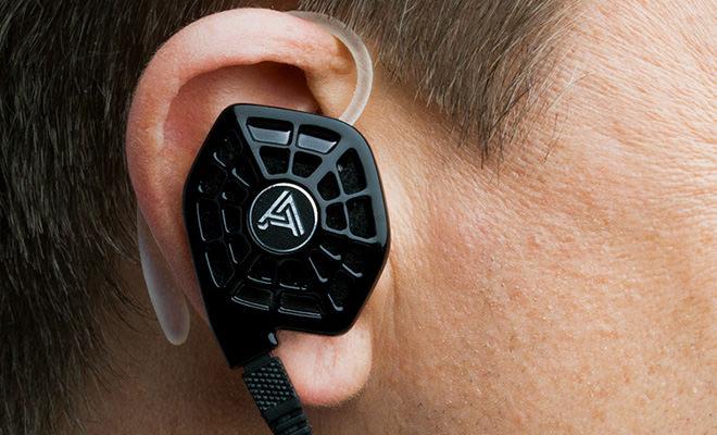 Audeze iSINE10 In-ear headphones on man