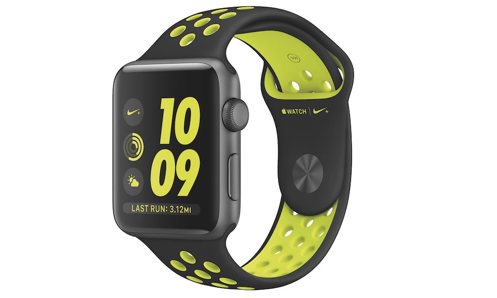 Apple Watch Nike+ Smartwatch in Black/Volt Colors