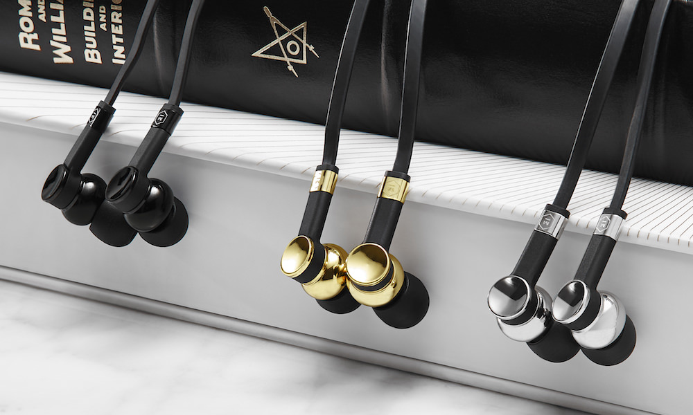 Master & Dynamic ME05 Earphones in Black, Brass and Palladium