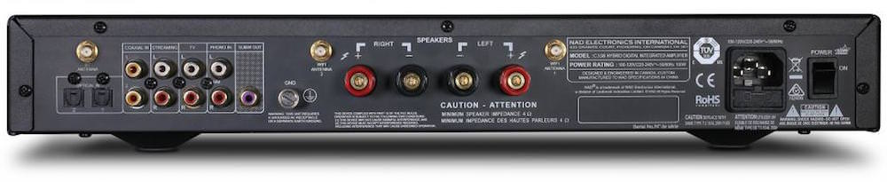 NAD C 338 Digital Integrated Amplifier - Back