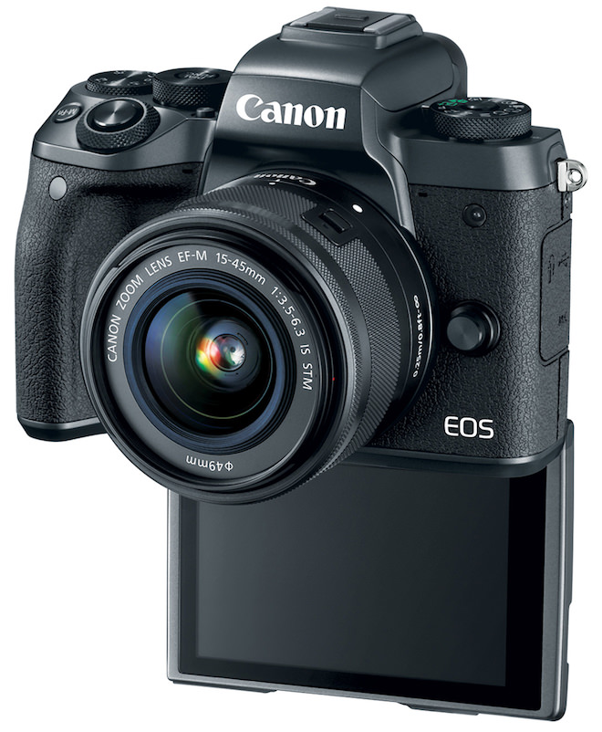 Canon EOS M5 Digital Camera with LCD Flip out