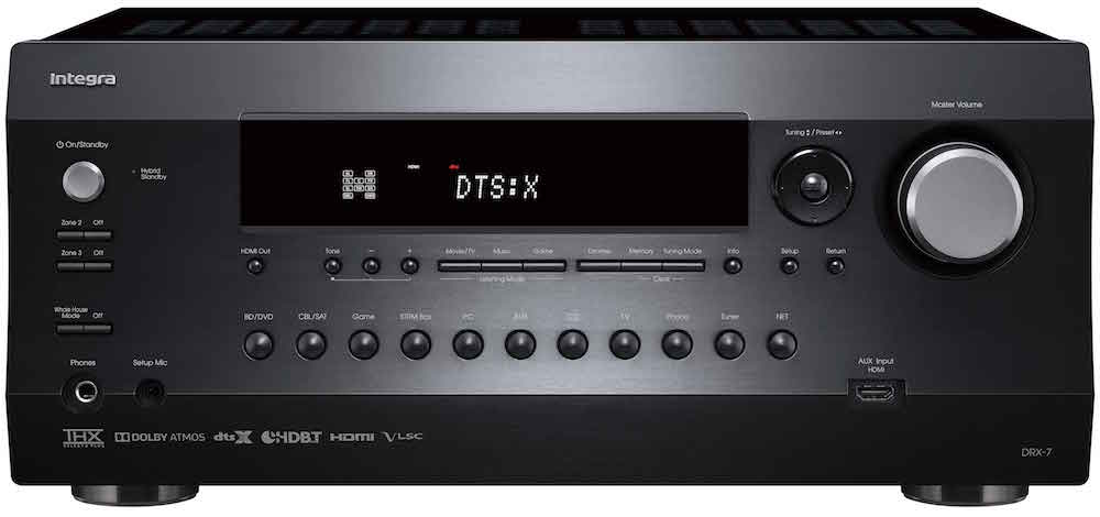 Integra DRX-7 A/V Receiver Front View