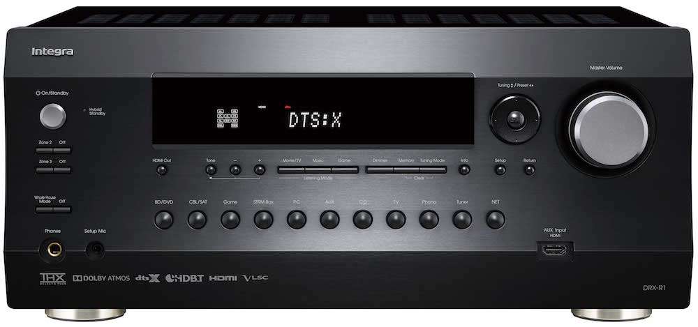 Integra DRX-R1 A/V Receiver Front View