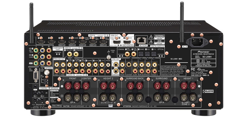 Pioneer Elite SC-LX901 A/V Receiver Back View