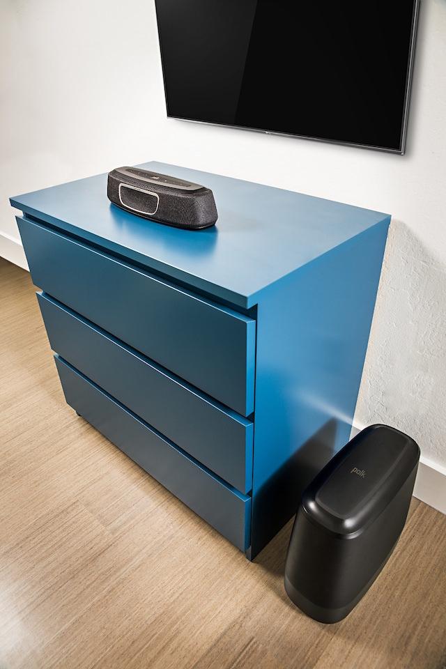 Polk Audio MagniFi Mini Sound Bar and Wireless Subwoofer under TV