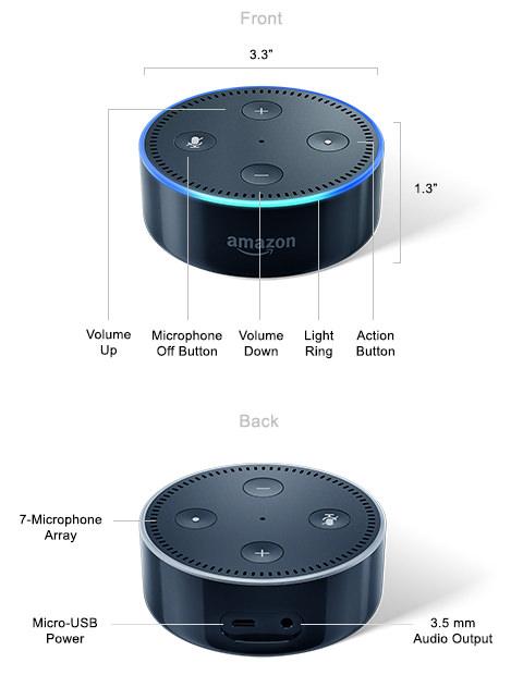 Amazon Echo second generation in black