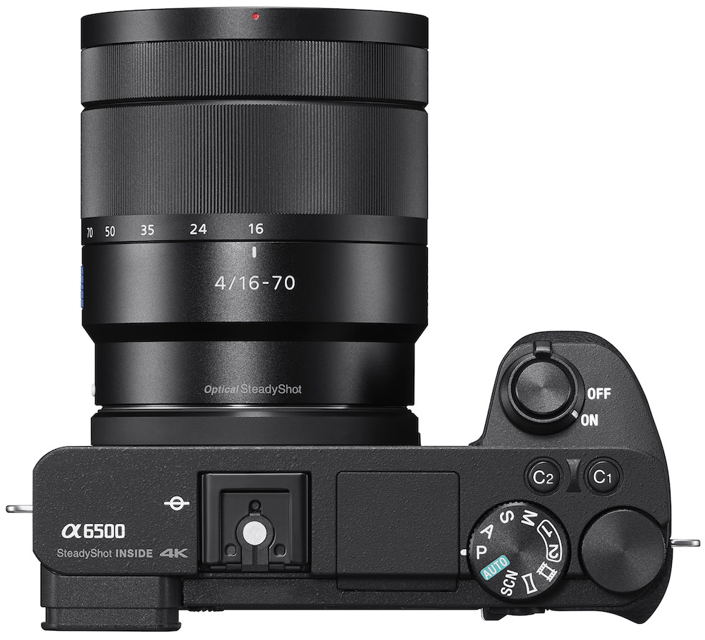 Sony a6500 (ILCE-6500) Mirrorless Digital Camera Top