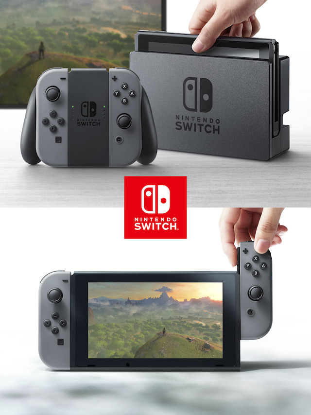 Nintendo Switch Gaming Console, Detachable Screen and Controllers