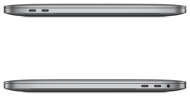 2016 Apple MacBook Pro side ports