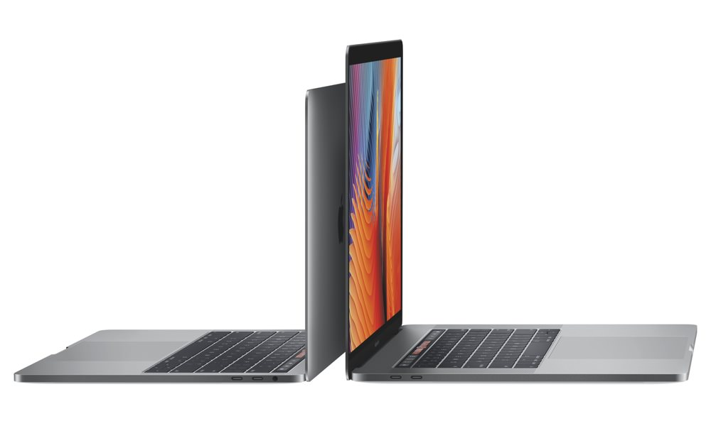 2016 Apple MacBook Pro 13-inch and 15-inch Side by Side