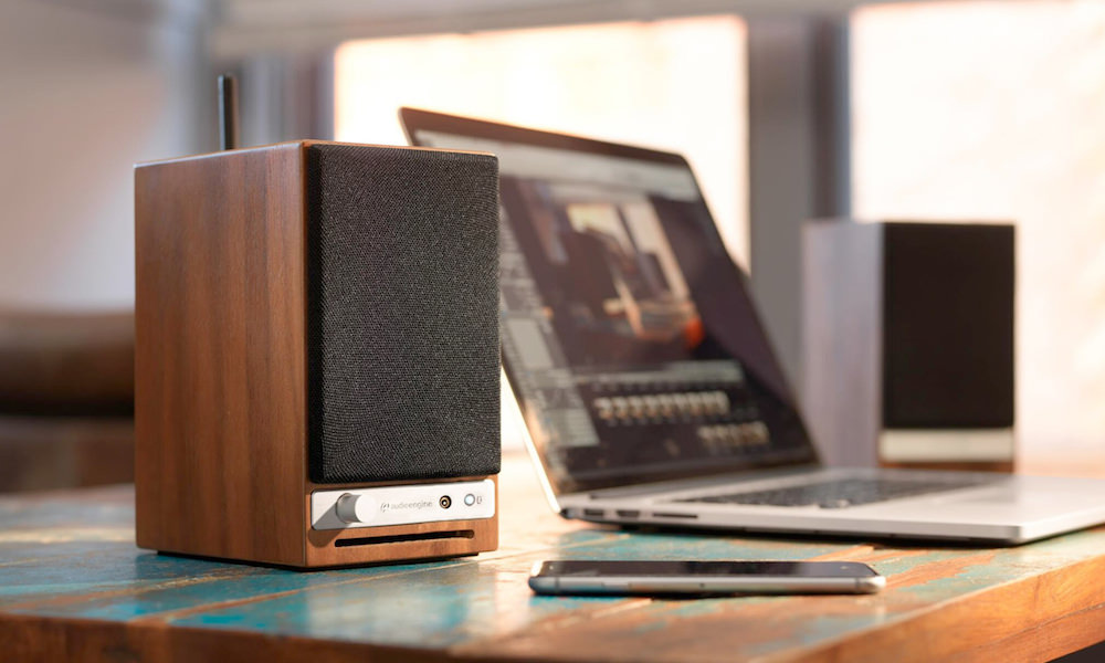 Audioengine HD3 Wireless Speakers on desktop