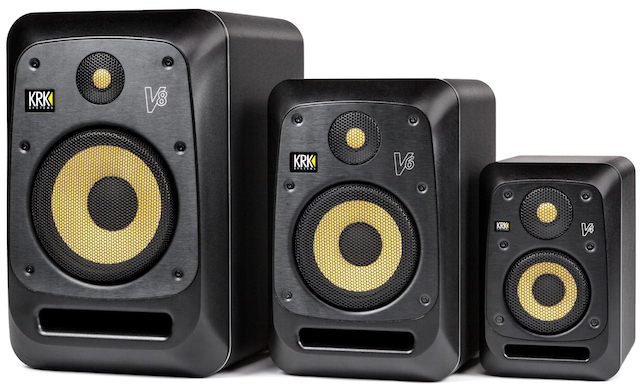 KRK V SERIES 4 Powered Reference Monitors with grilles