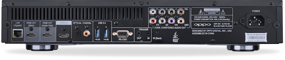 OPPO UDP-203 Rear View