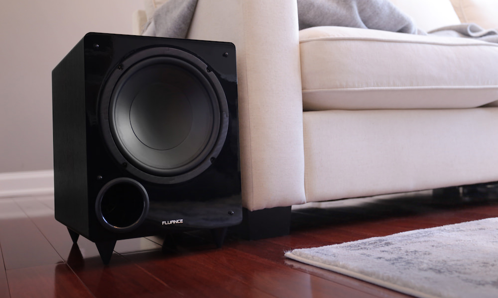 Fluance DB10 Subwoofer by couch