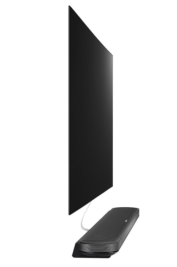 LG Signature OLED W7 TV 2017 side view
