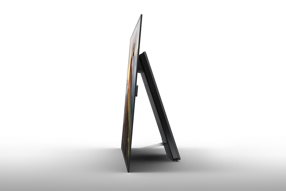 Sony XBR-A1E BRAVIA OLED TV side stand view