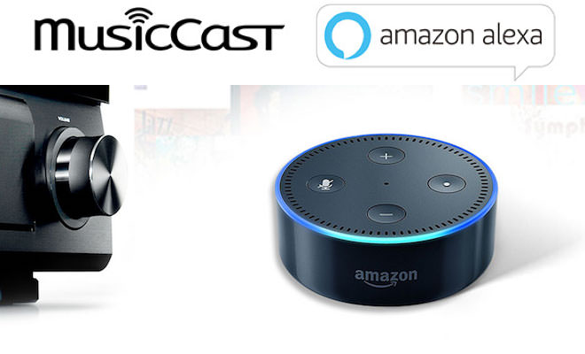 Yamaha MusicCast with Amazon Echo Dot for Alexa Voice Commands