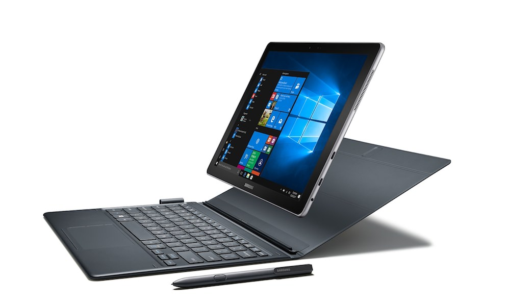 Samsung Galaxy Book 12 Tablet with S-pen and Keyboard Case