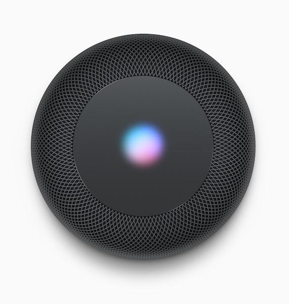 Apple HomePod Black Top View with Siri waveform