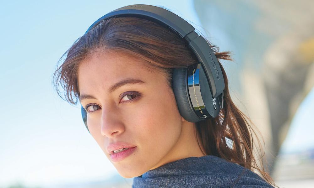 Focal Listen Wireless Headphones on woman