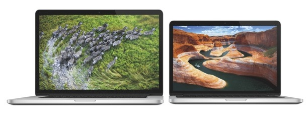 MacBook Pro 15-inch and 13-inch with Retina displays