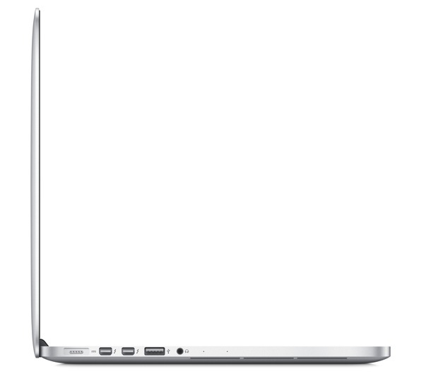 MacBook Pro 13-inch with Retina display - Side View