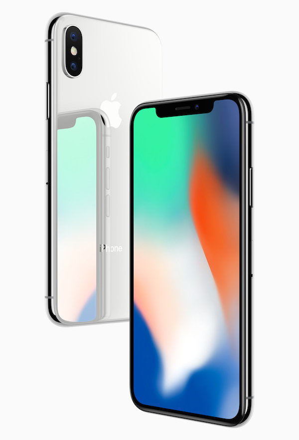 Apple iPhone X glass back and front views