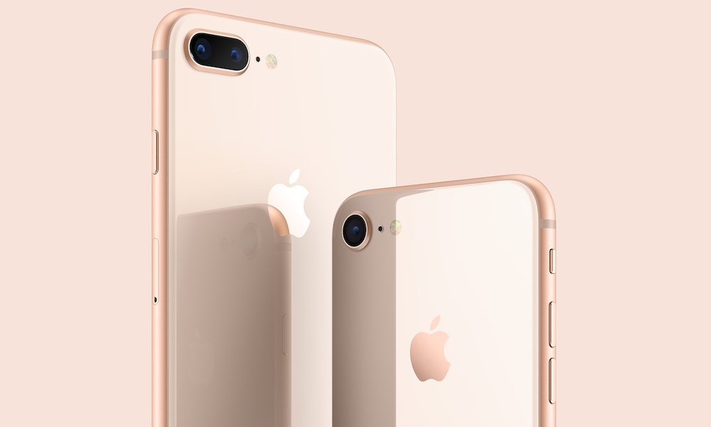 Apple iPhone 8 and iPhone 8 Plus in gold