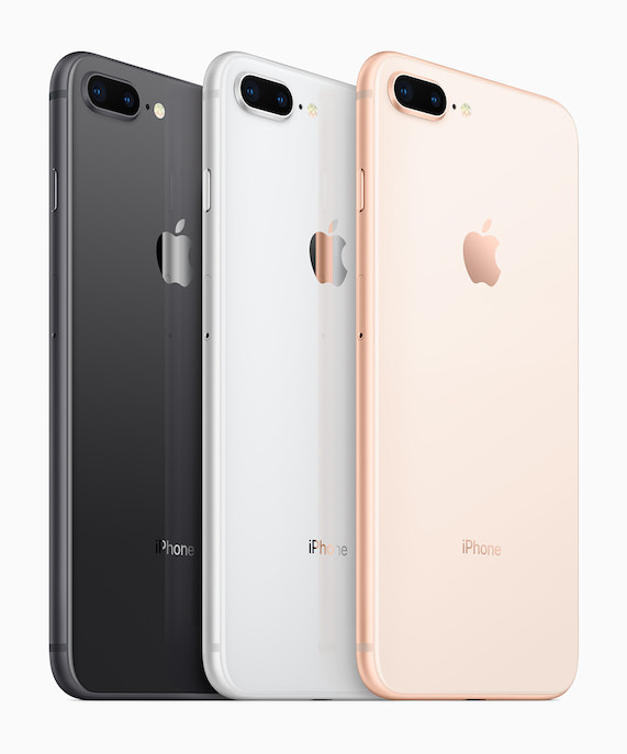 Apple iPhone 8 Plus black, white, gold colors