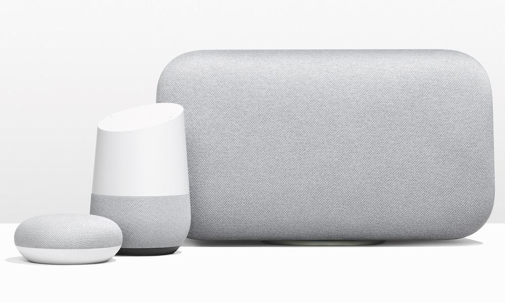 Google Home Mini, Google Home, Google Home Max