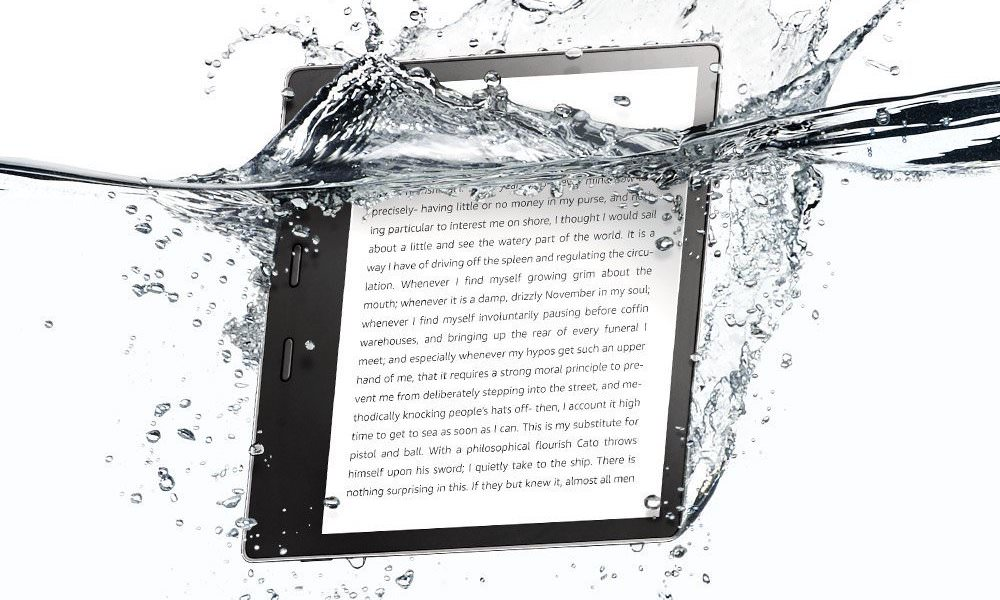 Amazon Kindle Oasis (2017, 9th generation) Waterproof Ereader