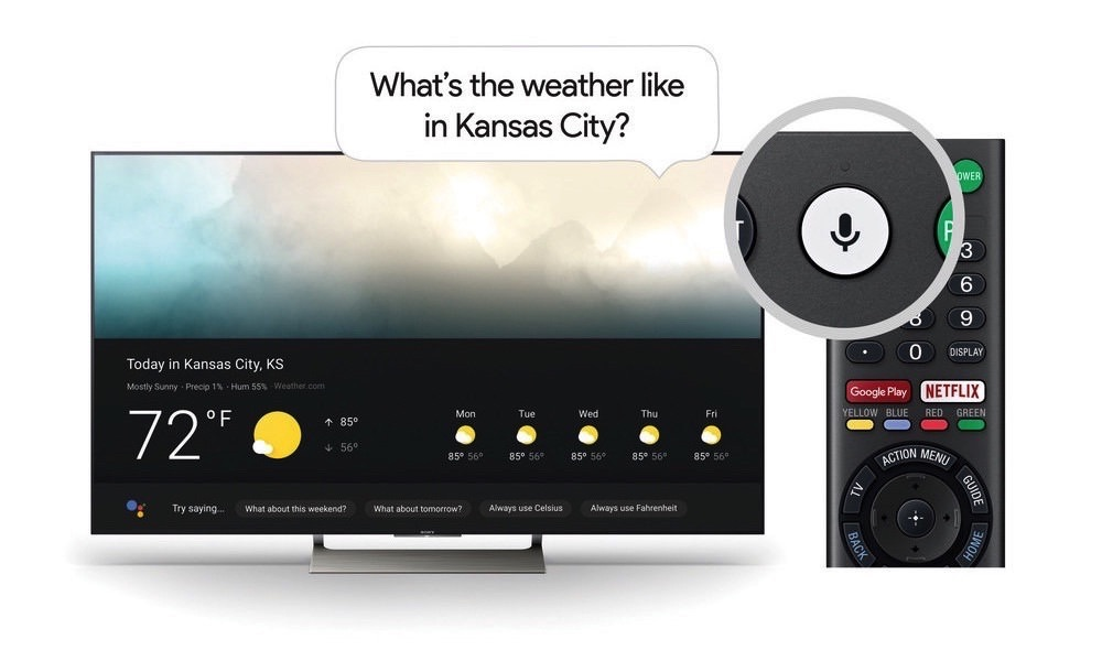 Google Assistant on Sony TV