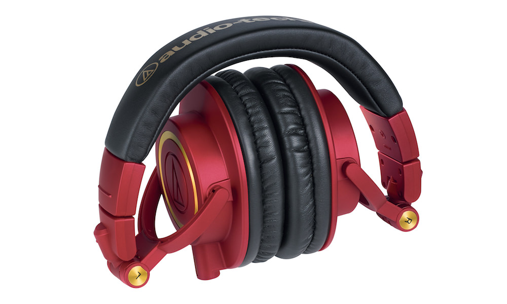 Audio-Technica ATH-M50xRD Headphone Red-and-Gold collapsed