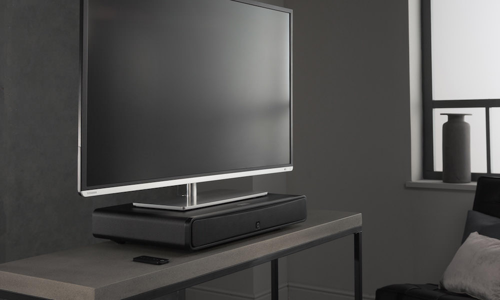 Q Acoustics M2 Soundbase under TV