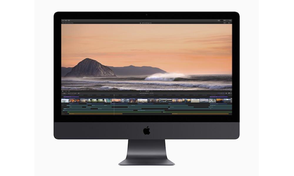 Apple Final Cut Pro X Video Editing Software on iMac Pro