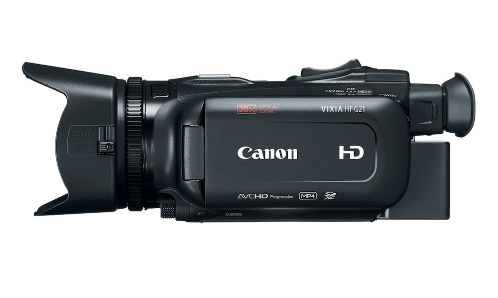 Canon VIXIA HF G21 HD Camcorder - Side View