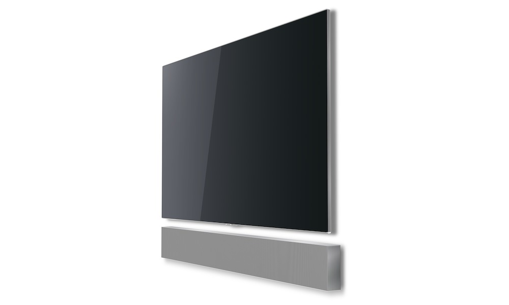 Samsung Sound+ NW700 Soundbar angle view under TV