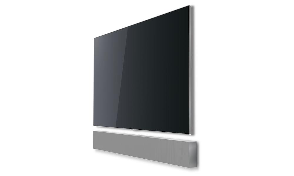 Samsung Sound+ NW700 Soundbar angle view under TV