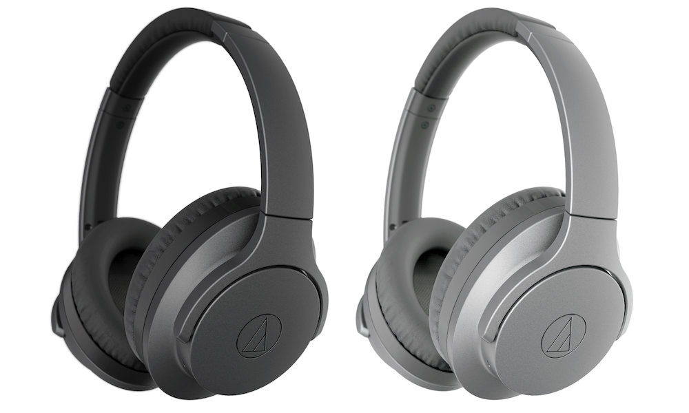 Audio-Technica ATH-ANC700BT QuietPoint over-ear wireless active noise-cancelling headphones (gray)