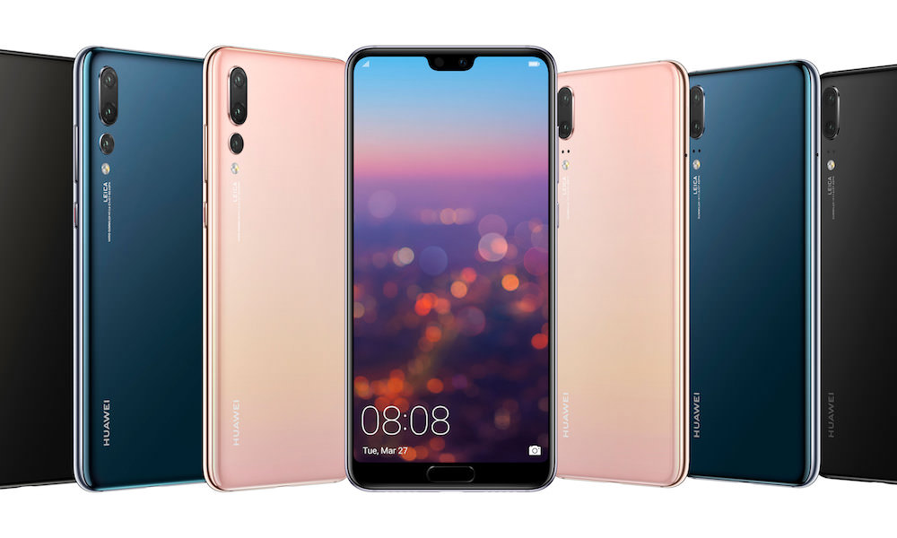 Huawei P20 Pro (left) and P20 (right) smartphones 2018