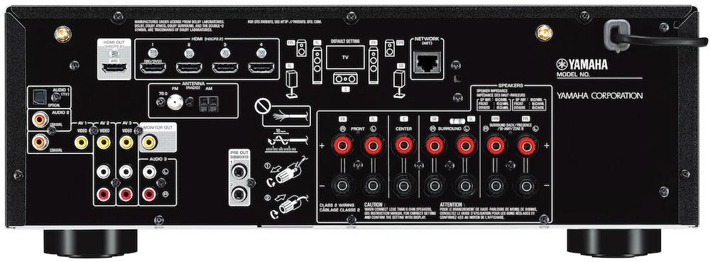 Yamaha RX-V685 A/V Receiver Back