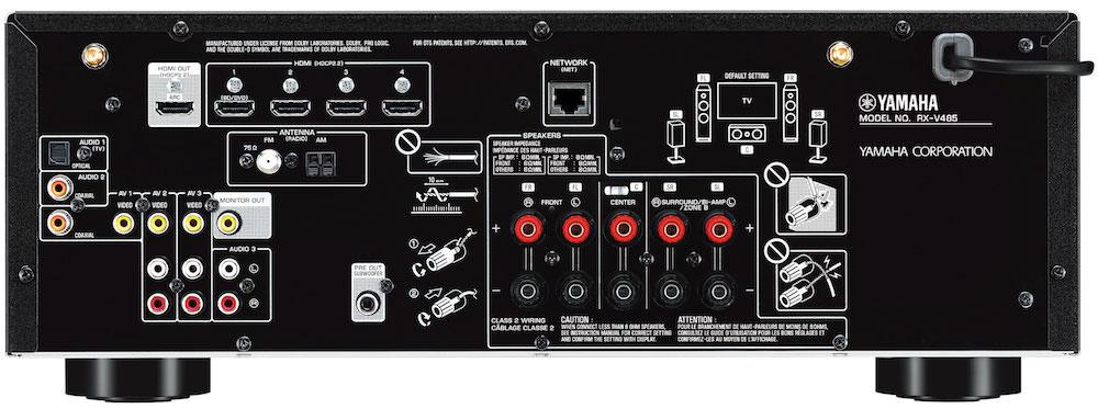 Yamaha RX-V485 A/V Receiver Back