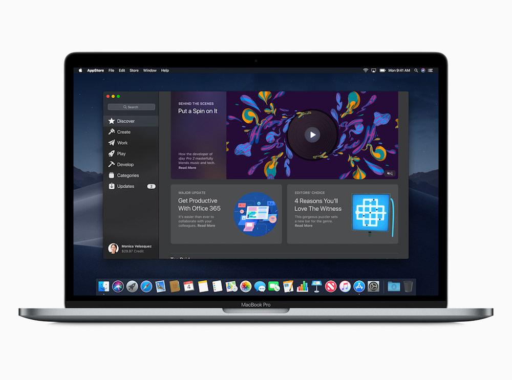 Apple macOS Mojave Mac App Store Discover screen