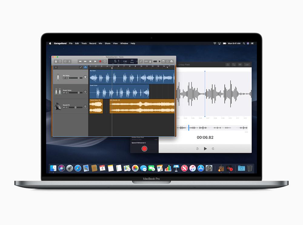 Apple macOS Mojave Voice Memo screen